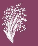 与花的逗人喜爱的看板卡。 免版税库存照片