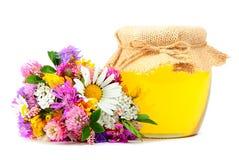 与花的5月蜂蜜 图库摄影