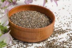与花的Chia种子健康超级食物 库存照片