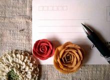 与花的Postard 免版税库存图片