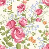 与花花束的无缝的样式  免版税库存照片