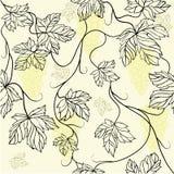 与花饰的无缝的墙纸 免版税图库摄影