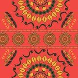 与花饰的无缝的样式在俄国全国样式 免版税库存图片