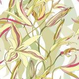 与花饰的无缝的纹理 免版税库存照片