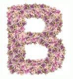 与花ABC概念类型的信件字母表作为商标 免版税图库摄影