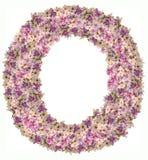 与花ABC概念类型的信件字母表作为商标 库存照片