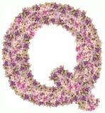 与花ABC概念类型的信件字母表作为商标 免版税库存图片