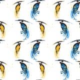 与苍鹭传染媒介的无缝的样式 免版税库存图片