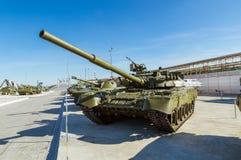 与苏联坦克,军事历史博物馆, Ekaterinburg,俄罗斯展览交战  免版税库存图片