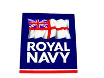 与英国国旗旗子的英国皇家海军标志 免版税图库摄影