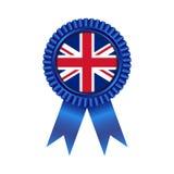 与英国旗子例证设计的奖牌 免版税库存图片