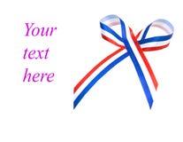 与英国旗子的蝶形领结 免版税库存图片