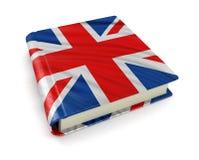 与英国旗子(包括的裁减路线的书) 库存照片