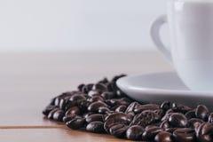 与茶杯的咖啡 免版税库存图片
