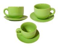 与茶碟的杯子 库存图片