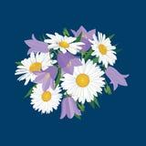 与草甸花的花束 免版税图库摄影