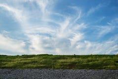 与草的天空 免版税图库摄影