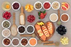 与草药的健康饮食食物 图库摄影
