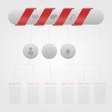 与药片的现代设计最小的样式infographic模板 免版税图库摄影
