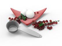 与莓果例证的冰淇凌 库存照片