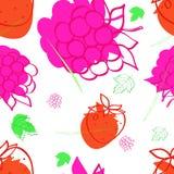 与莓,草莓的图象的样式 库存图片