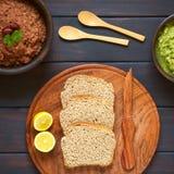 与菜传播的面包 免版税库存照片