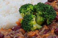 与菜和米的Azuki 免版税库存图片