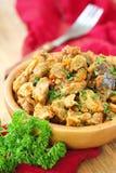 与菜和香料的肉炖煮的食物 免版税库存图片