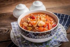 与菜的中国鸡 免版税图库摄影
