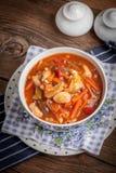 与菜的中国鸡 库存照片