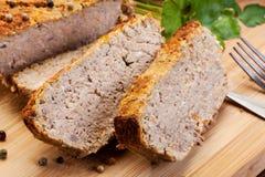 与菜的传统可口肉头脑 免版税库存图片