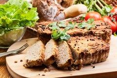 与菜的传统可口肉头脑 库存图片