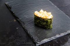 与菜的寿司卷 日本食物 32 图库摄影
