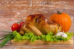 与菜的油煎的火鸡 库存照片