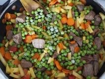 与菜的炖煮的食物 免版税库存照片