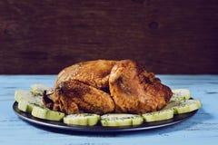 与菜的烘烤火鸡 库存照片