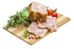 与菜的烟肉 免版税库存照片