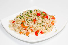 与菜的米 免版税库存图片