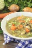与菜的自创圆白菜炖煮的食物 图库摄影