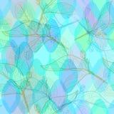 与菱形的抽象几何无缝的样式留下等高和鳞装饰当代元素 紫色蓝色水色lil 向量例证