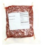 与营养事实标签的绞细牛肉 免版税库存图片