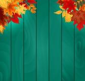 与落的秋叶的抽象传染媒介例证背景 图库摄影