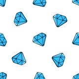 与落的蓝色金刚石的无缝的样式 免版税库存图片