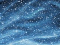 与落的雪的抽象圣诞节背景 免版税库存照片