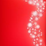 与落的雪花的明亮的圣诞节背景 向量例证