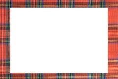 与著名格子呢苏格兰人fabri的纹理的大框架 免版税库存照片