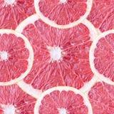 与葡萄柚切片的无缝的背景 免版税图库摄影