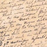 老手写-大约1881年 库存图片