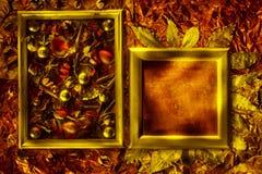 与葡萄酒框架的古铜色金属纹理 库存图片