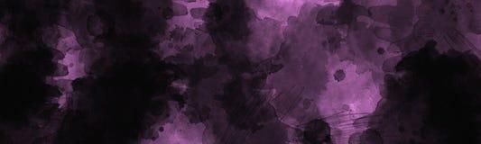 与葡萄酒水彩退色的作用的摘要黑暗的被绘的背景 免版税库存图片